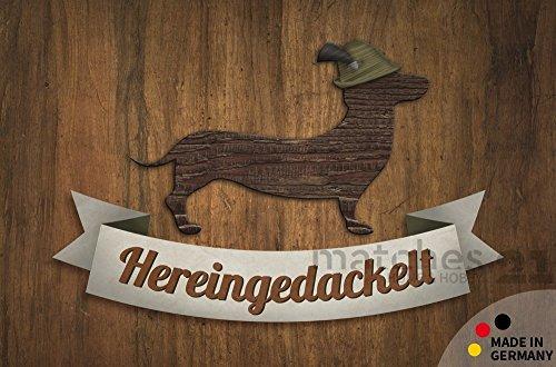 matches21 Fußmatte Fußabstreifer Flat Hereingedackelt Dackel Hund Tiermotiv 44x67 cm Flache Textil Oberfläche maschinenwaschbar Flur Teppich
