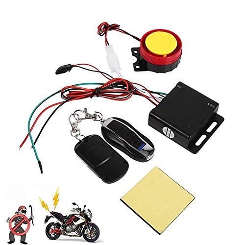 MZY1188 Moto-Scooter Inmovilizador de Alarma con Arranque Remoto del Motor 12v Control Remoto Doble Universal Moto Moto Scooter Sistema de Alarma de Seguridad antirrobo