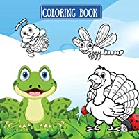 Coloring book: Coloring book for kids with cute animals - kittens, cats, birds, lions, for kids ages 2-8 8x 8
