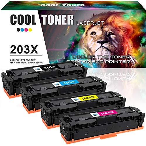 Cool Toner Compatibele Toner Cartridge Vervangen voor HP 203A 203X CF540X CF540A voor HP Color Laserjet Pro MFP M281fdw M254dw M254nw M280nw M281fdn M281cdw M281 M280 M254 Toner CF540X-CF543X