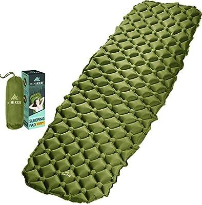 HiHiker Camping Sleeping Pad– Ultralight Backpacking Air Mattress w/Compact Carrying Bag –Sleeping Mat for Hiking Traveling & Outdoor Activities (Green)