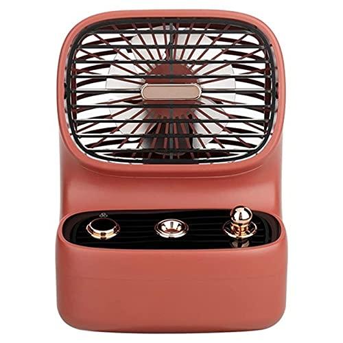 Aire acondicionado Ventilador retro de spray USB, refrigerador de aire de espacio personal Mini refrigerador evaporativo Ventilador de escritorio tranquilo, tanque de agua incorporado 350 ml, tamaño p