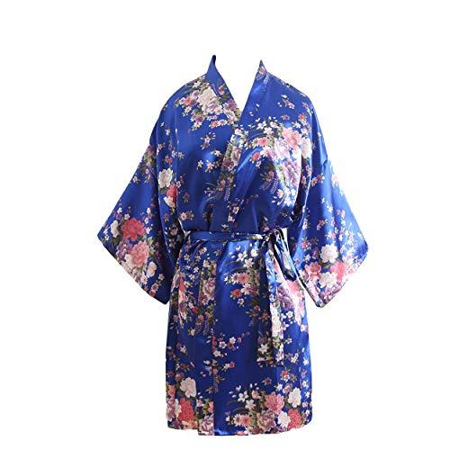 YUAKOU Kimono Mujer Bata Vestir Novia Dama Honor Saten