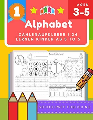 Alphabet zahlenaufkleber 1-24 lernen kinder ab 3 to 5: Diese alphabet poster für kinder deutsch ist ein Lernsystem für Kinder, die helfen, um zu ... Es umfasst sowohl groß- und Kleinbuchstaben.