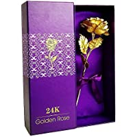 LOVEINUSA 24k Golden Rose Flower with Luxury Gift Box