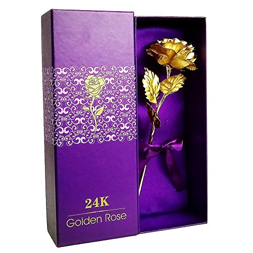 LoveinUSA 24K Plated Golden Rose in Luxury Box $6.64