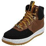 NIKE Boys Lunar Force 1 Duckboot Fashion Sneakers Black 6 Medium (D) Big Kid