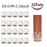 32 Pack Chair Leg Caps Silicone Feet Table Covers Protectors for Hardwood Floors