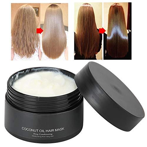 Mascarilla para el cabello Vaporización gratuita, Mascarilla para la crema capilar Nutrición para el cabello Aceite de coco Mascarilla para el cabello Terapia de tratamiento hidratante para el cabello