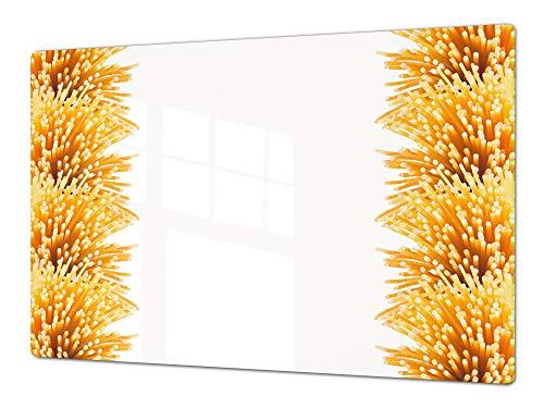 Enorme Cubre vitros de cristal templado - Tablas para cortar gigante – Tabla para amasar y protector de vitro – UNA PIEZA (80 x 52 cm) o DOS PIEZAS (40 x 52 cm) Series de Comida DD16