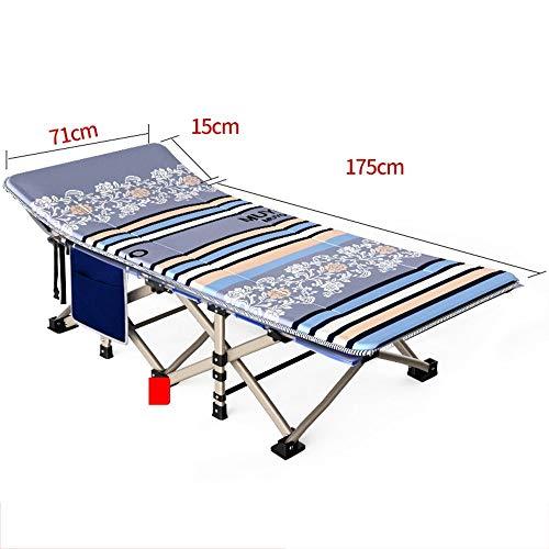 QTQZHH Sofa-Betten-Büro-faltendes Bett-Bett-Erwachsener-tragbares Kinderbett-Krankenhaus-Sorgfalt-Ruhesessel-Couch (Farbe: 1)