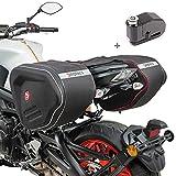 Set Sacoches laterales Moto Bagtecs RF1 + Antivol Bloque Disque Alarme Noir