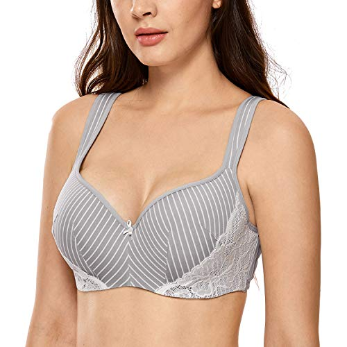 DELIMIRA Women's Lightly Lined Underwire Smooth Full Figure Balconette...