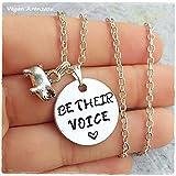 Collar Vegano Be their Voice animal Cerdo Colgante Vegan regalo para vegano accesorios veganos que regalar a un vegano amante animales bisuteria vegana regalo vegano