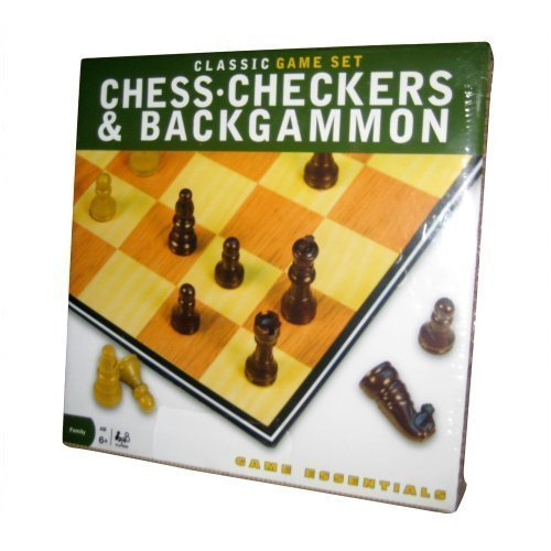Cardinal Industries Class Game Set: Chess, Checkers, & Backgammon
