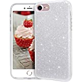 MATEPROX iPhone SE 2020 case, iPhone 8 case,iPhone 7 Glitter Bling Sparkle Cute Girls Women Protective Case for 4.7' iPhone 7/8/SE(Silver)