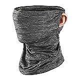Tuimiyisou Cubierta Cuello de la Cara de la Bufanda de Cuello Polaina Cubiertas Transpirable Anti-UV Lavable para Ciclo al Aire Libre Gris Deportivo