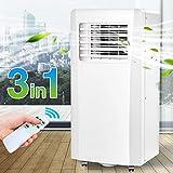 Bakaji Condizionatore Portatile 7000 BTU 2,1 kW Climatizzatore Caldo Freddo Gas Naturale R290 Aria Condizionata Funzione Ventilatore Deumidificatore Timer e Telecomando per Ambienti 25mq Lifetimeair