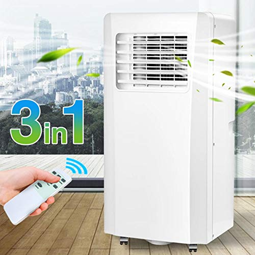 Bakaji Condizionatore Portatile 7000 BTU 2,1 KW Climatizzatore Gas Naturale R290 Aria Condizionata Funzione Ventilatore Deumidificatore Timer E Telecomando Per Ambienti 25Mq Lifetimeair