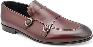 tresmode Men's Bordeaux Double Monk Loafers