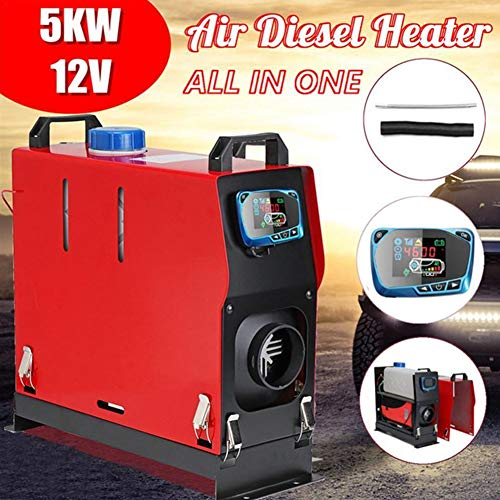 Lowest Price! WHWXQ Air Diesel Heater All-in-One Machine,12V 5000W LCD Monitor Diesel Heater,for Van...