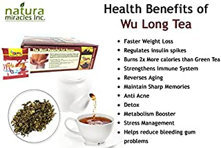 QFL Wulong Premium Chinese Slimming Tea: Highly concentrated All Natural Tea Bags (100 Count)