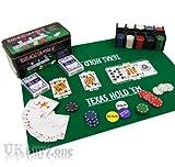 Texas Holdem Poker Set In Metal Tin