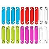 Etiquetas de cable Sistema de identificación y marcado de cable y cable de escritura multicolor, 20 piezas