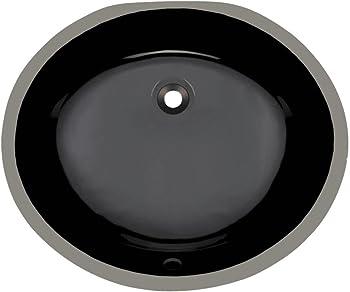 MR Direct UPM-Black Undermount Bathroom Sink