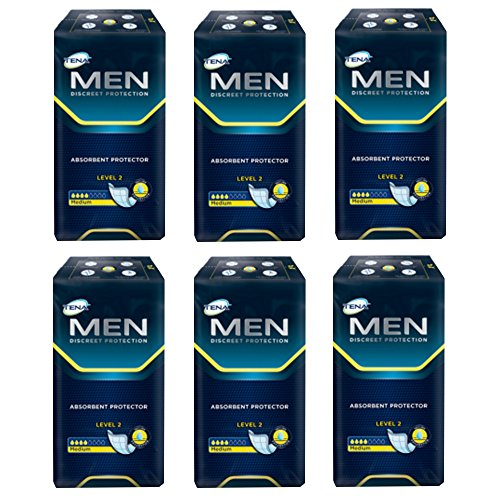 TENA For Men Level 2 Einlagen - 3 Packungen / 3 x 20 = 60 Stück