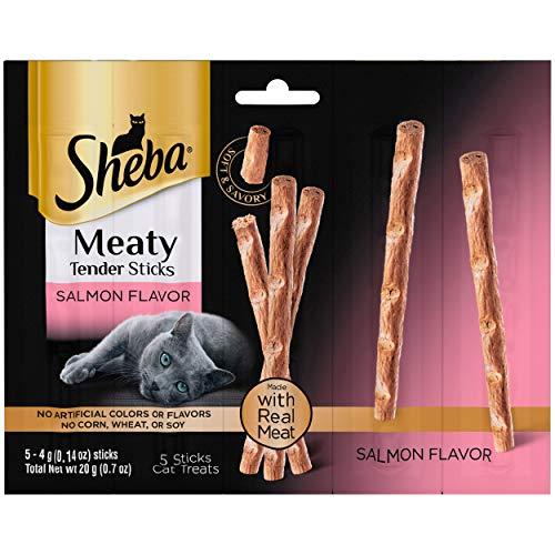 SHEBA Meaty Tender Sticks Soft Cat Treats Salmon Flavor,...