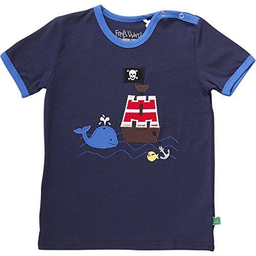 Fred'S World By Green Cotton Sailor Boat T Baby T-Shirt, Bleu Marine (019392001), 24 Mois Mixte bébé