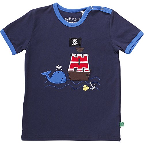 Fred'S World By Green Cotton Sailor Boat T Baby T-Shirt, Bleu Marine (019392001), 24 Mois Mixte bébé