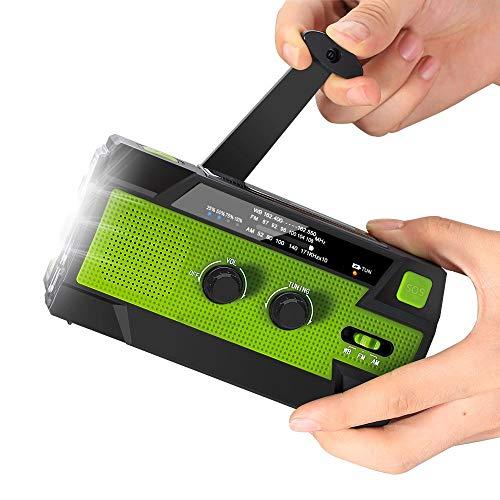 Winbang Handkurbel-Radio, N33WB-Mehrzweck-Solarbetriebene Funkgeräte mit Großer Kapazität und Taschenlampe für Outdoor-Sport-Notfallwerkzeug, Tragbar