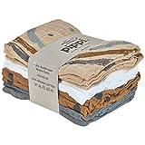 pippi Organic Cloth Muslin pañuelo, Sandshell, 65x65 para Bebés
