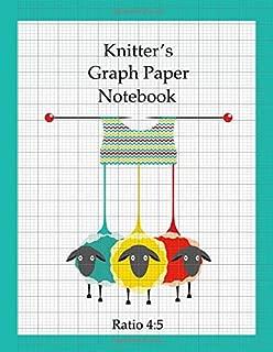 Knitter's Graph Paper Notebook: design your own knitting patterns, asymmetric knitters journal 4:5 ratio