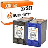 Bubprint 2 Cartuchos de Tinta Compatible para HP 27 28 HP27 HP28 para Deskjet 3320 3325 3420 3520V 3550 3650 Officejet 4215 Pro 3610 PSC 1210 1310 1315 Set