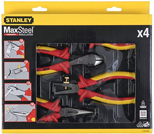 Stanley 4-84-489 Alicates, Red//ellow, Set de 4 Piezas