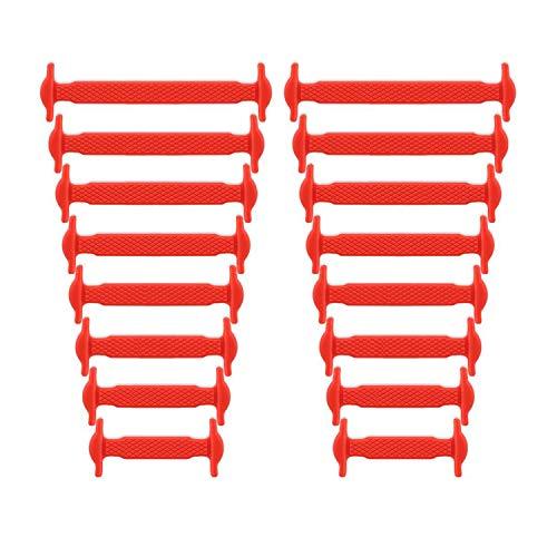 Newkeen No Tie Silikon Schnürsenkel für Kinder und Erwachsene - Wasserdichte Silikon flache elastische Sportlauf Schnürsenkel mit Multicolor für Sneaker Stiefel Brettschuhe