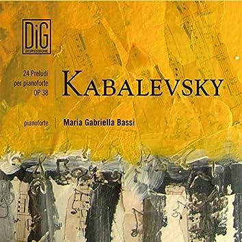 Kabalevsky 24 Preludi per pianoforte Op. 38