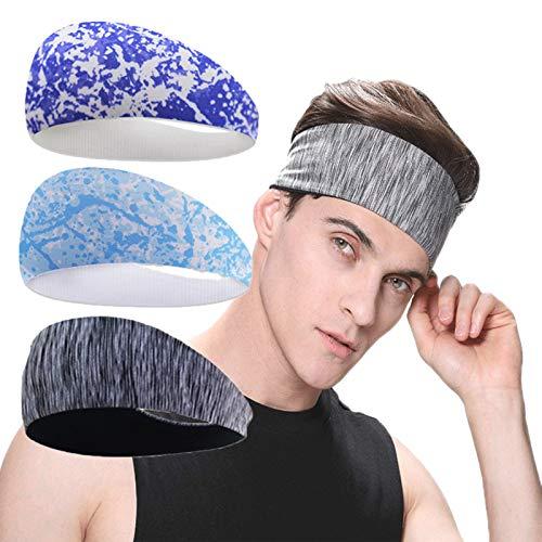 Nescop Diadema deportiva unisex para correr, yoga, fitness, diadema, elástica, transpirable, accesorios para el cabello (Style-E)