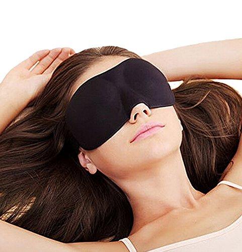 Demarkt Augenmaske Augen Maske Binde Schlafbrille Schlafmaske (Schwarz)