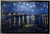 1art1 Vincent Van Gogh - Noche Estrellada sobre El Ródano, 1888 Felpudo Alfombra (60 x 40cm)