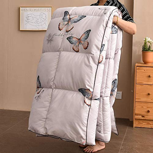 CHOU DAN Queen Duvets,Duvet 95 White Goose Down Cotton Quilt Thickening Warm Double Genuine,200 * 230cm 3000g