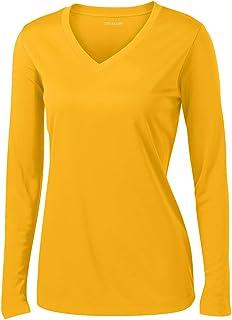 DRI-Equip Ladies Long Sleeve Moisture Wicking Athletic Shirts Sizes XS-4XL