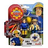 Simba Toys Sam & Trevor | Sam El Bombero | Conjunto de Figuras | Fireman Sam