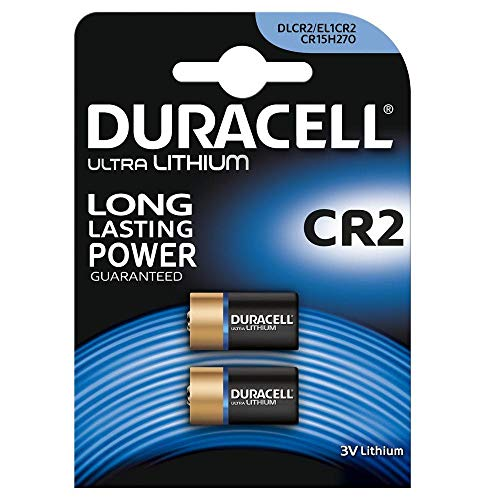 Duracell 030480 Lithium 3V Non-Rechargeable Battery - Pilas no Recargables (Lithium, Cylindrical, 3 V, 2 uds(s), CR2,...