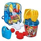 Disney - Mochila playa Mickey Cubo con accesorios, 18 cm(48217)