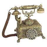 Design Toscano Antique Grand Emperor 1933 Rotary Corded Retro Phone - Vintage Decorative Telephones, Bronze