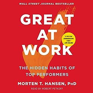 Page de couverture de Great at Work